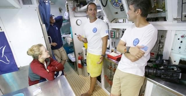 Torunu Cousteau'nun rekorunu kırdı